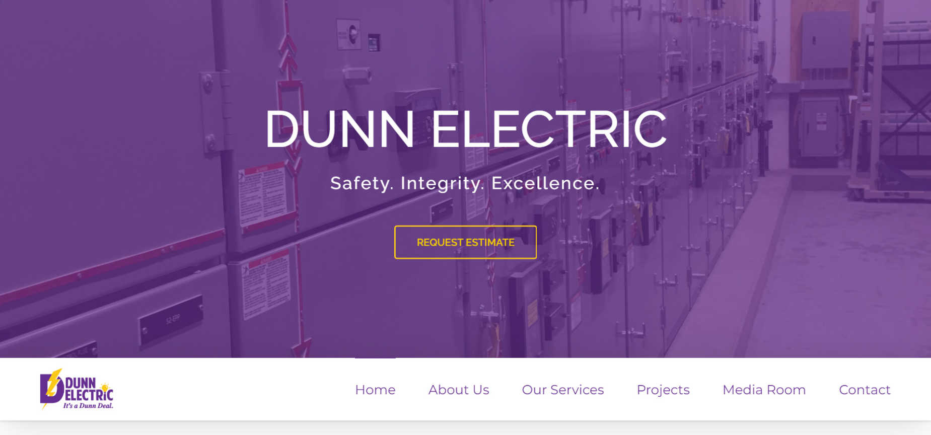 dunn-electric-website-screenshot